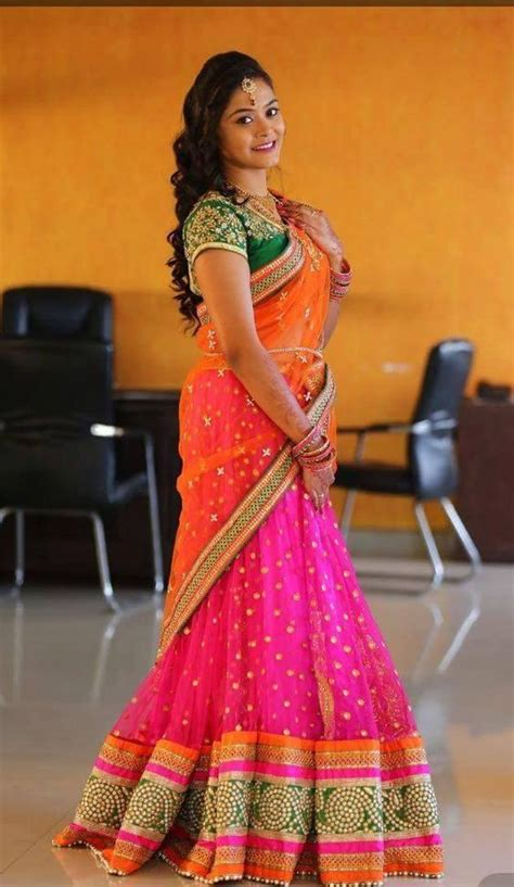 Traditional Saree Draping Styles How To Wear Half Saree In South Indian Style Saree Guide