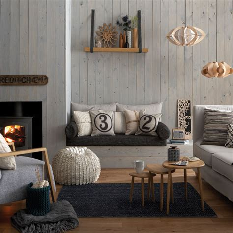 Living Room Warm But Bedroom Cold Cosy Grey And Warm Oak Living Room Living Room