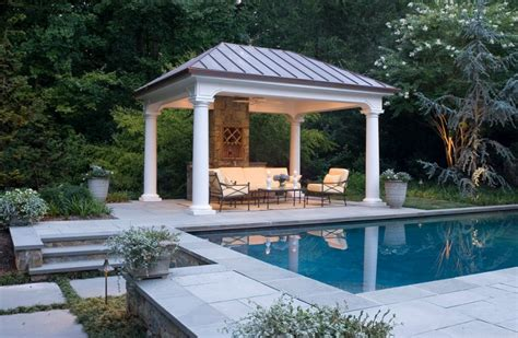 pool pavilion designs fascinating square gazebo plans to make decohoms