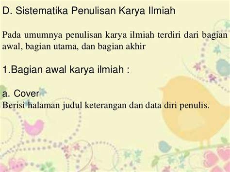Bahasa Indonesia Penulisan Dan Penyajian Karya Ilmiah Sri Hapsari W makalah bahasa indonesia bagian bagian karya ilmiah