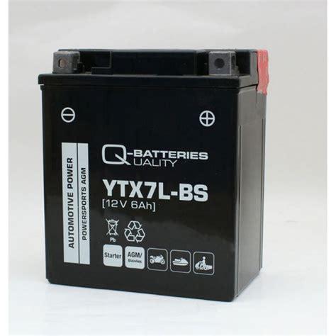 Motorrad Batterie Ytx7l Bs by Q Batteries Motorradbatterie Ytx7l Bs Agm 50614 12v 6ah 110a