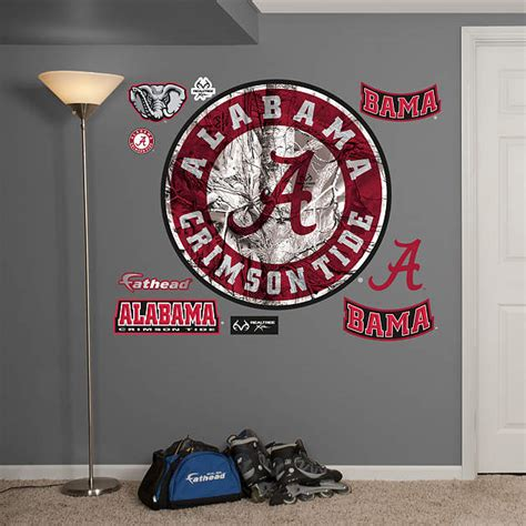 Alabama Crimson Tide Home Decor by Alabama Crimson Tide Realtree Logo Wall Decal Shop