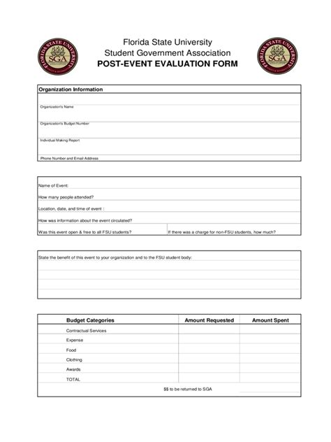 post event evaluation form 2 free templates in pdf word
