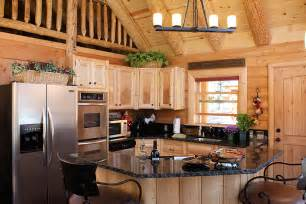 Log Cabin Kitchen Designs by Log Home Kitchens 171 Real Log Style