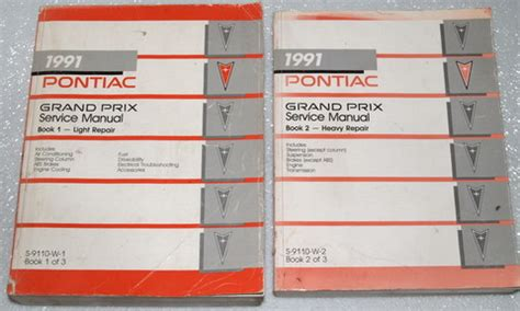 service and repair manuals 1991 pontiac grand prix transmission control 1991 pontiac grand prix factory service manual set le se ste gt 91 shop repair