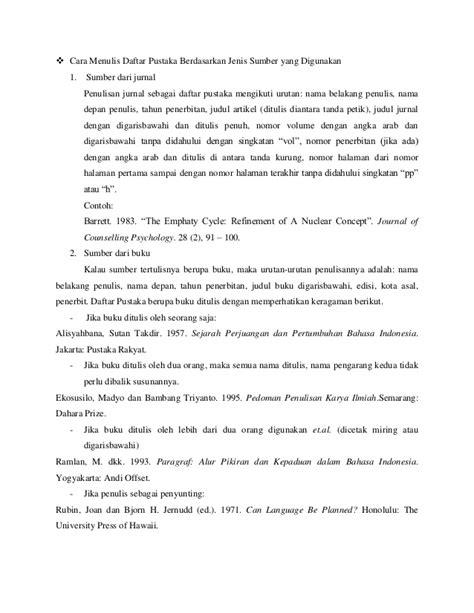 cara membuat daftar pustaka dari buku dan jurnal cara menulis kutipan dan daftar pustaka karya tulis ilmiah