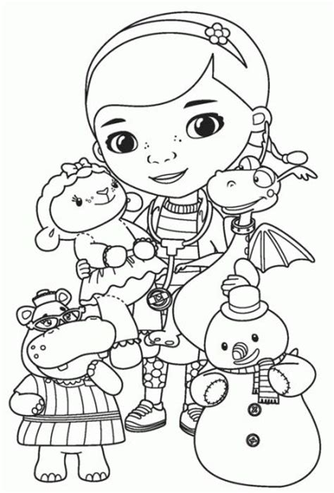 Doc Mcstuffins Coloring Pages Disney Junior by Disney Doc Mcstuffins Coloring Page Sketch Coloring Page