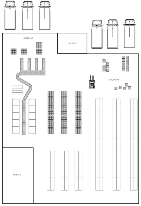floor plan of a warehouse warehouse layout