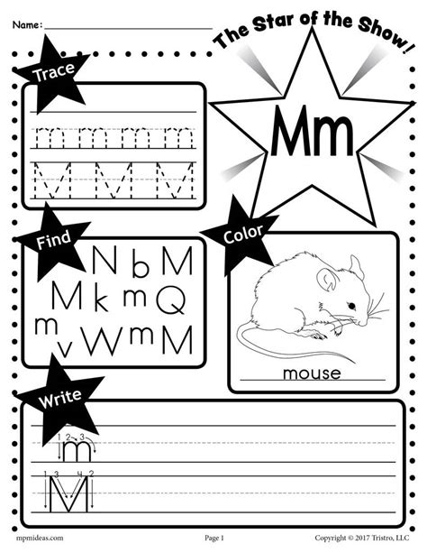 letter m worksheets free letter m worksheet tracing coloring writing more 1373