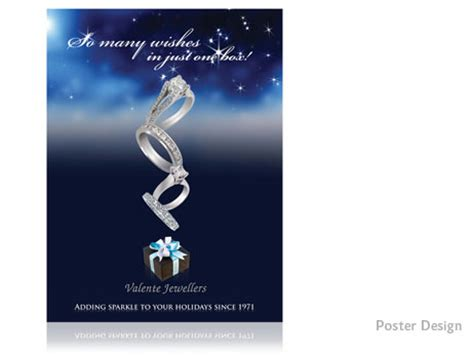 poster design for jewellery valente jewellery poster design print design store