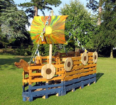 playground style viking ship could we make our float out