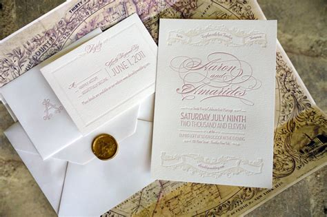 letter inspired wedding invitations vintage inspired wedding invitation ivory gold