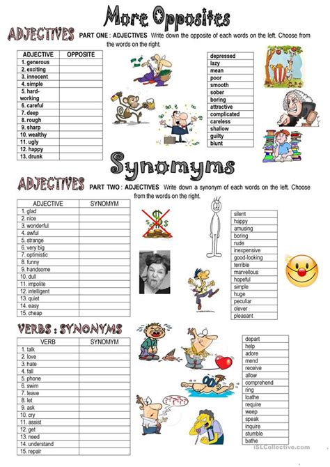 theme synonym in spanish 65 free esl opposites antonyms worksheets synonyms of