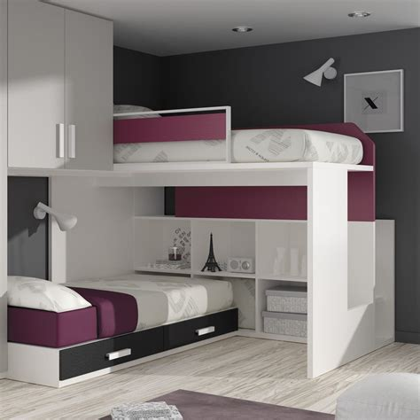 home design lovely loft bed design ideas small space corner bunk bed with nice l shaped beds space saving idolza