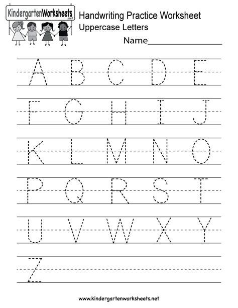 handwriting worksheets uppercase letters free printables