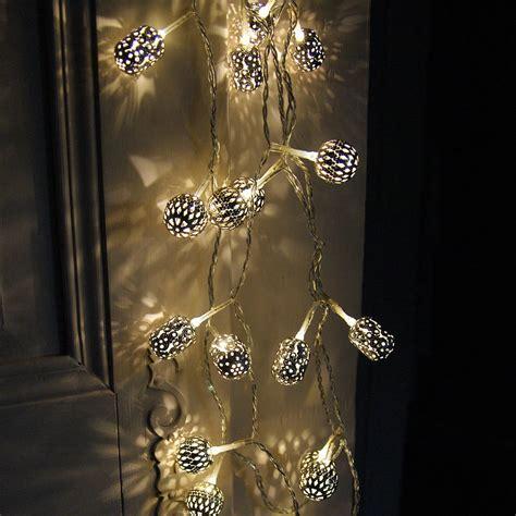 Silver Maroq Light Garland By Red Lilly Maroq Lights