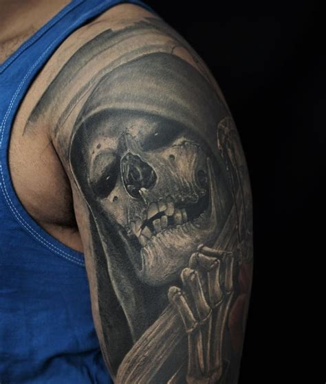 tattoo grim reaper 60 grim reaper tattoos with meanings