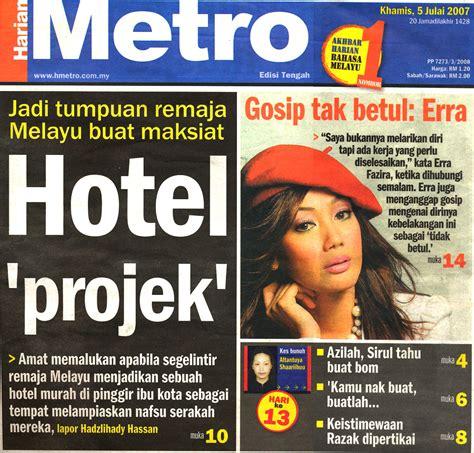 berita hari ini harian metro hari ini