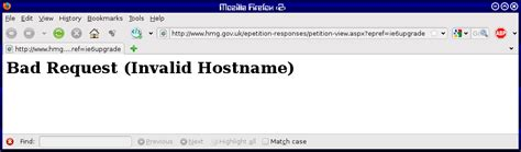 Bad Request Anti Ie6 Petition Response Failure Webfooted Weblog