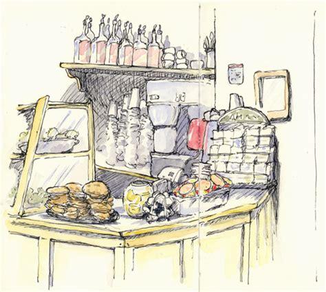2 Island Kitchen Cafe Sketching Sketching And Sketchbooks