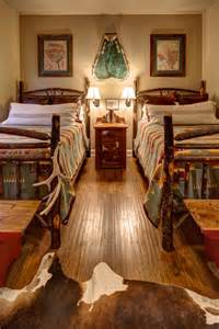 Lodge style bedroom blends rustic southwestern styles rustic and