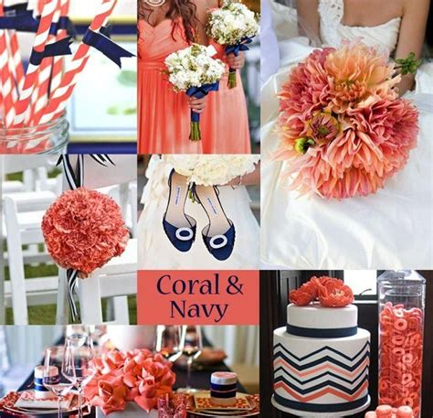 navy blue and coral wedding cool navy blue and coral wedding theme navy blue and