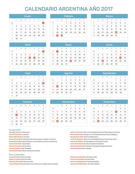 Calendario Argentina Calendario Argentina A 241 O 2017 Feriados