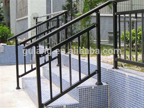 metal banister rail outdoor metal stair railing or removable aluminum steel handrail ideas for the