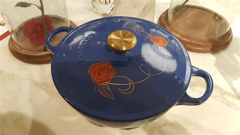 le creuset disney our time at williams sonoma for some beauty and the beast
