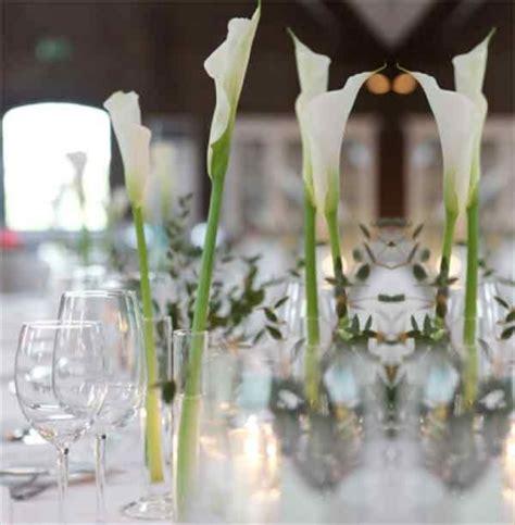 Calla Deko Hochzeit by Pin Tischdeko Calla Mit 3 On
