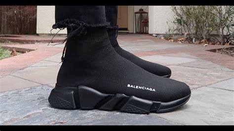 Sepatu Balenciaga Speed Trainer black balenciaga speed trainer unboxing realest