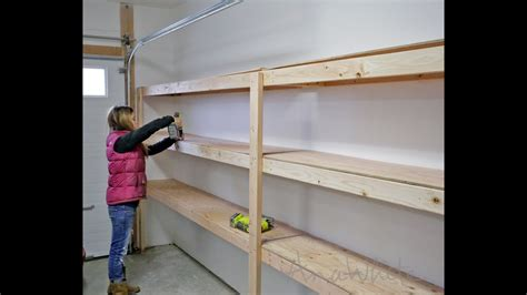 garage wall shelving how to build garage shelving easy cheap and fast