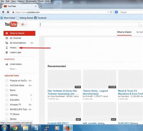 cara menghapus upload video di youtube cara menghapus riwayat pencarian di youtube mudah