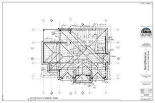 Roof Building Plans by Monsef Donogh Design Grouphoang Residence Sheet A205
