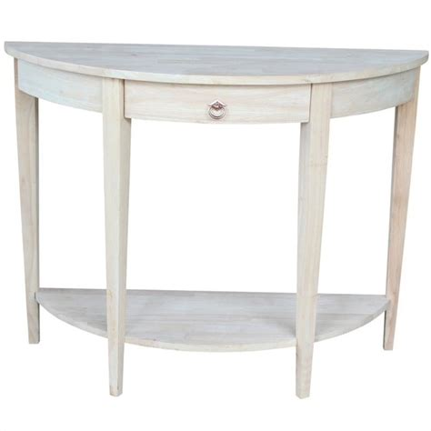Unfinished Console Table Unfinished Half Moon Console Table Ot 1643hd