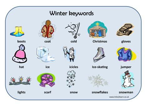 Winter Word Mat by 20 And Activities By Eric T Viking