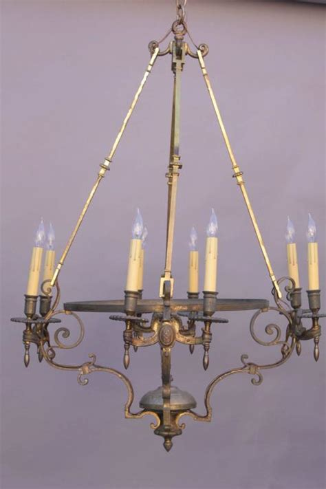 Large Scale Chandeliers 1910 Large Scale Brass Chandelier For Sale At 1stdibs