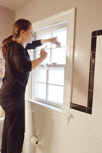 frosting a bathroom window diy frosting a window want to do on hall door young