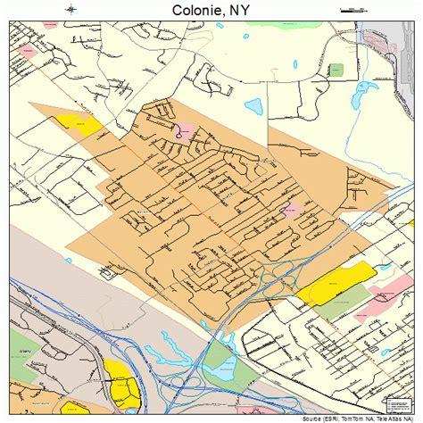 colonie map colonie new york map 3617332