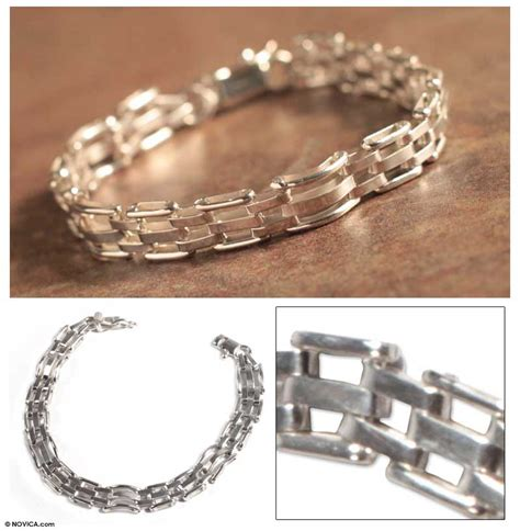 Handmade Silver Bracelets Uk - unicef uk market s handmade silver link