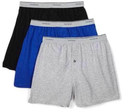 Boxer Import Shnn 001 fruit of the loom s knit boxer with exposed waistband import it all