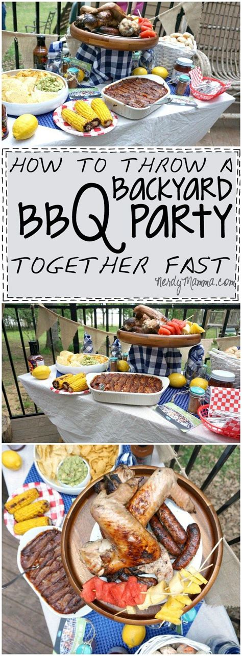 how to throw a backyard party how to throw a backyard bbq party together fast a