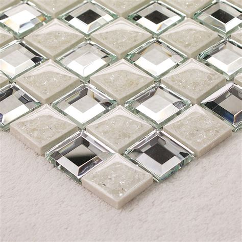 Mirrored Mosaic Tile Tile Design Ideas Mirrored Bathroom Tiles