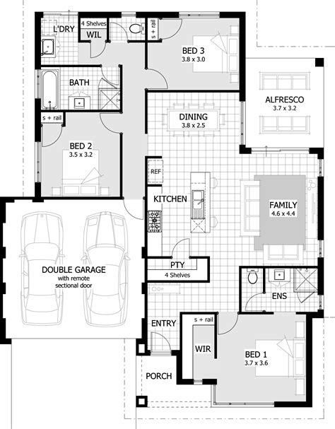 3 Bedroom Contemporary House Plans by 3 Bedroom Modern House Plans