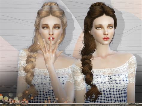 side braid custom content wingssims wings hair s4 ont1201 f sims 4 updates