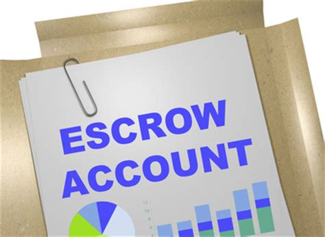 what is escrow bank account escrow accounts