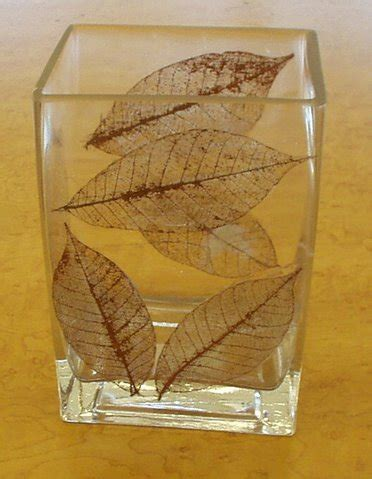 Decoupage With Leaves - handicrafts