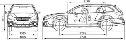 Subaru Outback Width Subaru Outback Dimensions 2017 Ototrends Net