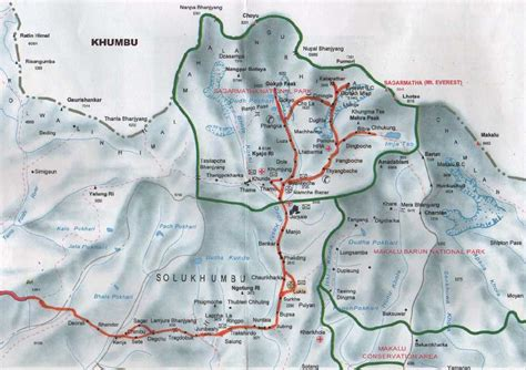 mt everest map mt everest map mount everest nepal mappery