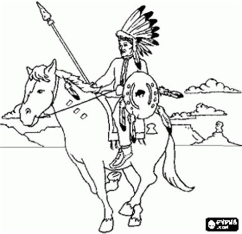 creek indian coloring page indian horse coloring sheets native americans or indians